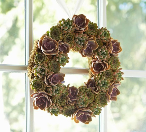simple succulent wreath for any season wedding
