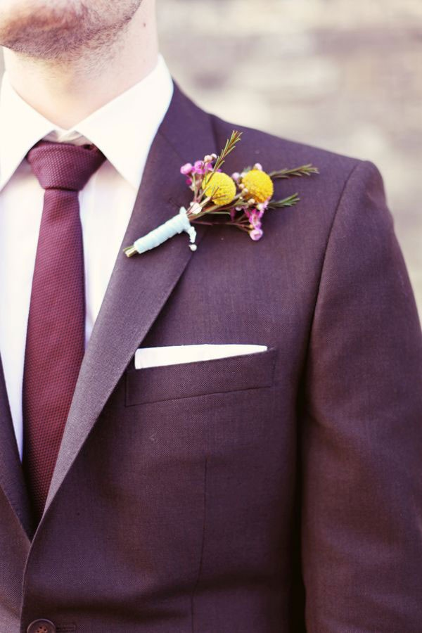 marsala tie with slightly burgundy suit jacket