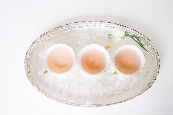 rose colored tea