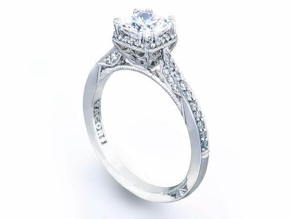 diamond and platinum engagement ring from Tacori