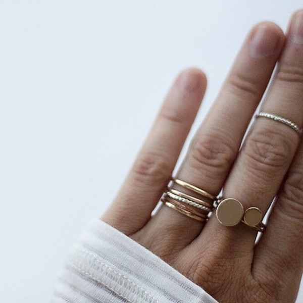 simple and nontraditional wedding bands for women