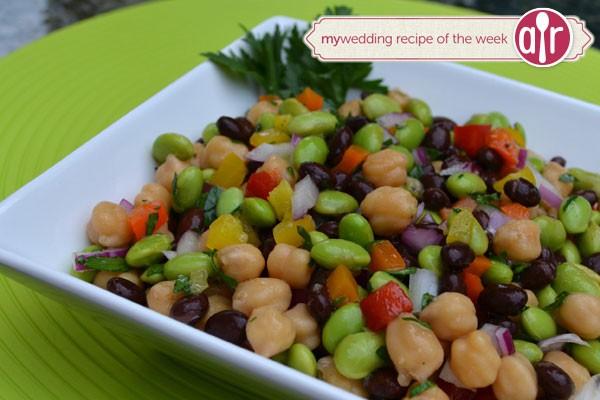 edamame and bean fresh salad