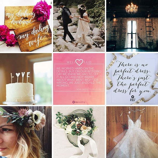 Roundup of wedding instagram photos