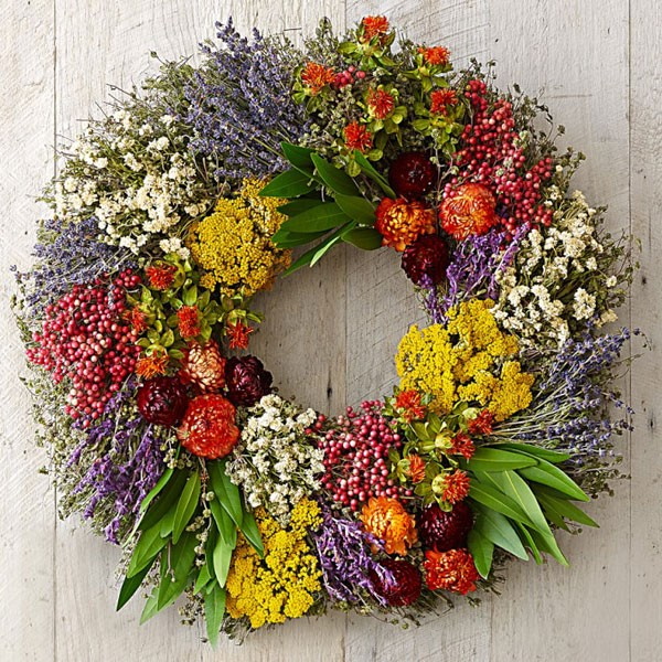 fragrant summer herbs wreath