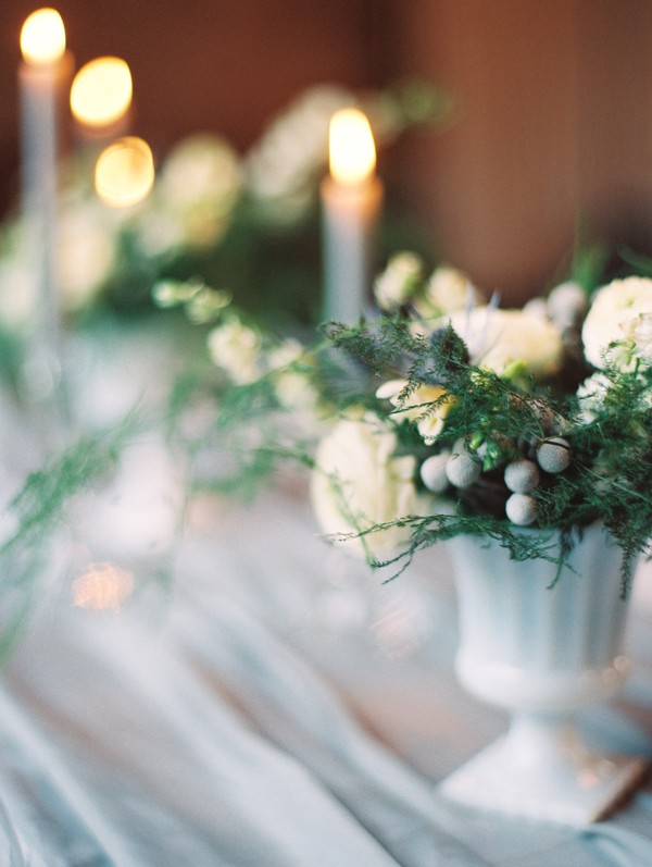 Ranunculus and fern flower arrangement by Hello Darlington from mywedding magazine photo by Kate Ignatowski