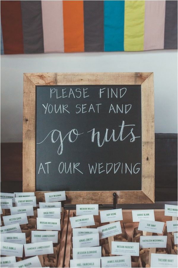 modern chalkboard seating sign for escort cards