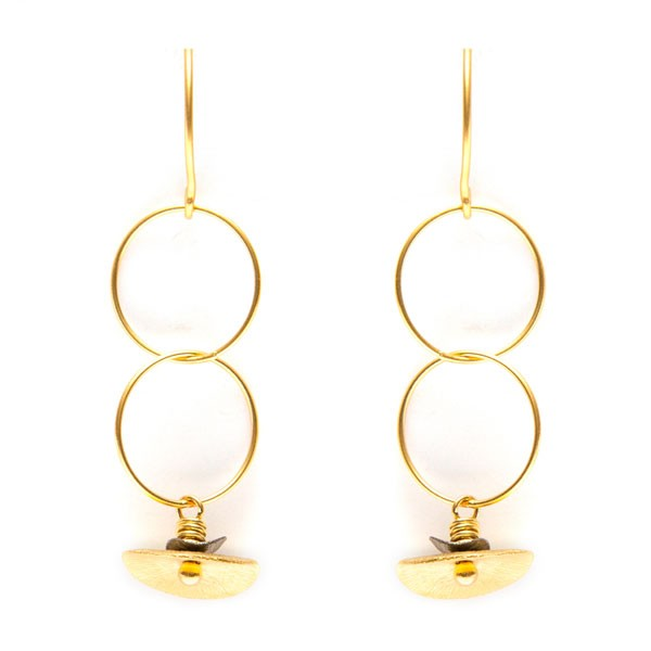modern and simple chain drop earrings