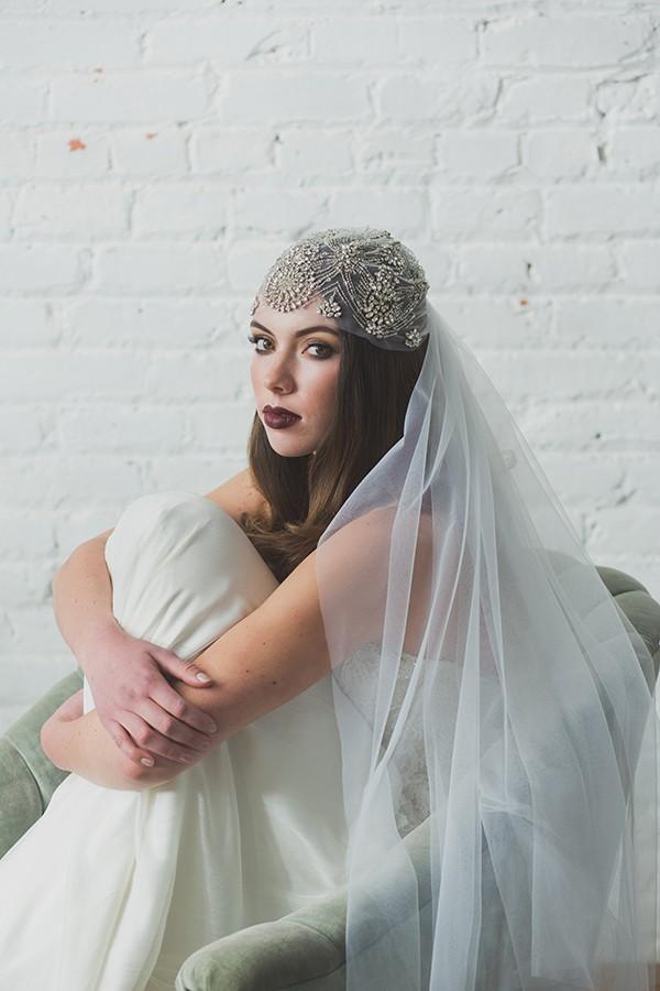 Gatsby-inspired wedding veil from mywedding magazine