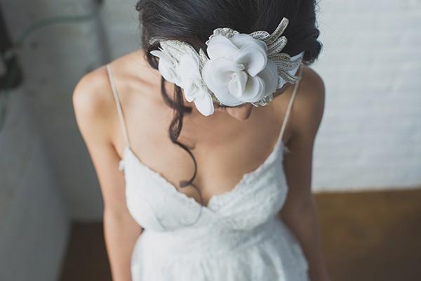 Floral headband from mywedding magazine