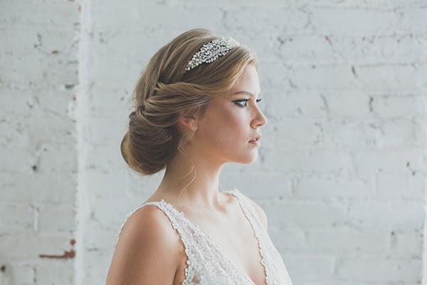 Pearl beaded headband from mywedding magazine
