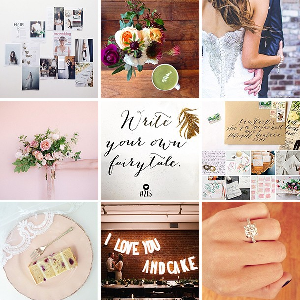 @myweddingdotcom Instagram feed and wedding inspiration
