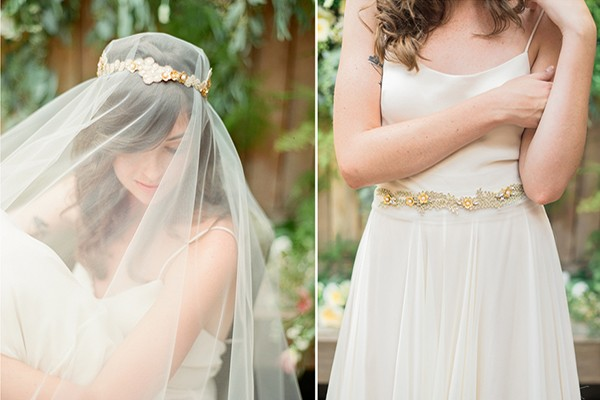 romantic veil and headpiece by Hushed Commotion