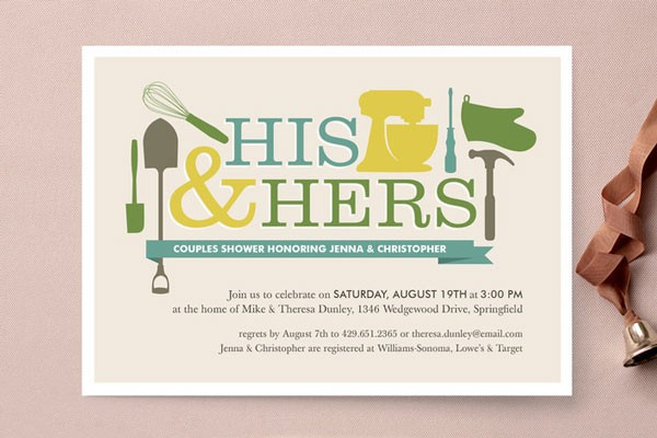 Bridal Shower Invitations To Match Your Theme Wedding