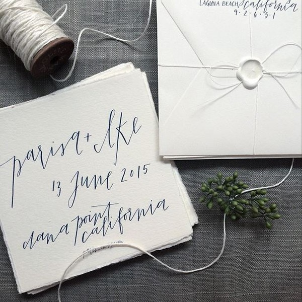 simple calligraphy save the dates