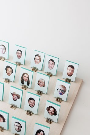DIY Guess Who board game personalized with pictures of friends and family