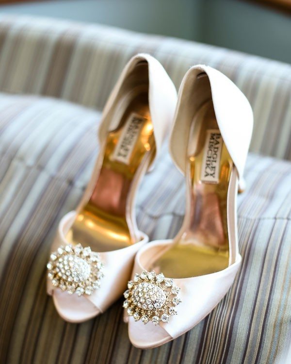 wedding shoes in cream