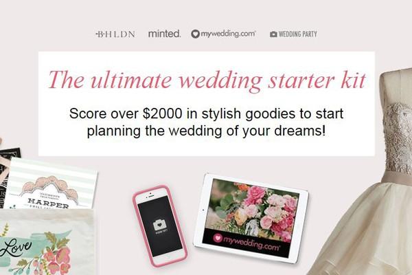Wedding starter kit contest
