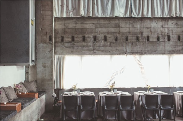 industrial-inspired modern wedding venue with sleek lines and minimalist style