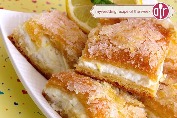 stack of lemon cream cheese bar cookies