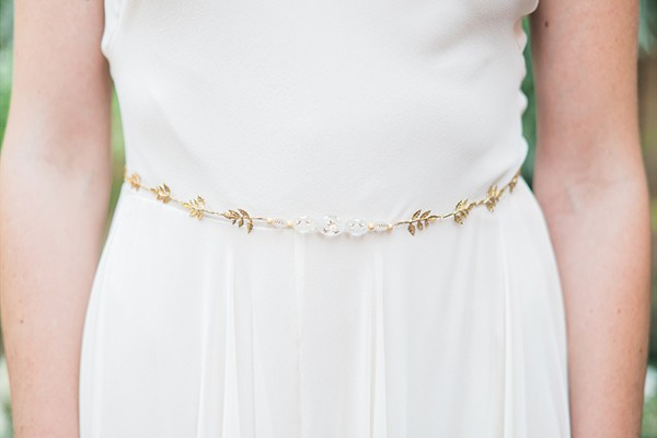 Gold belt bridal accessory from Hushed Commotion
