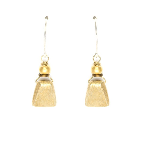 geometric vermeil bead earrings