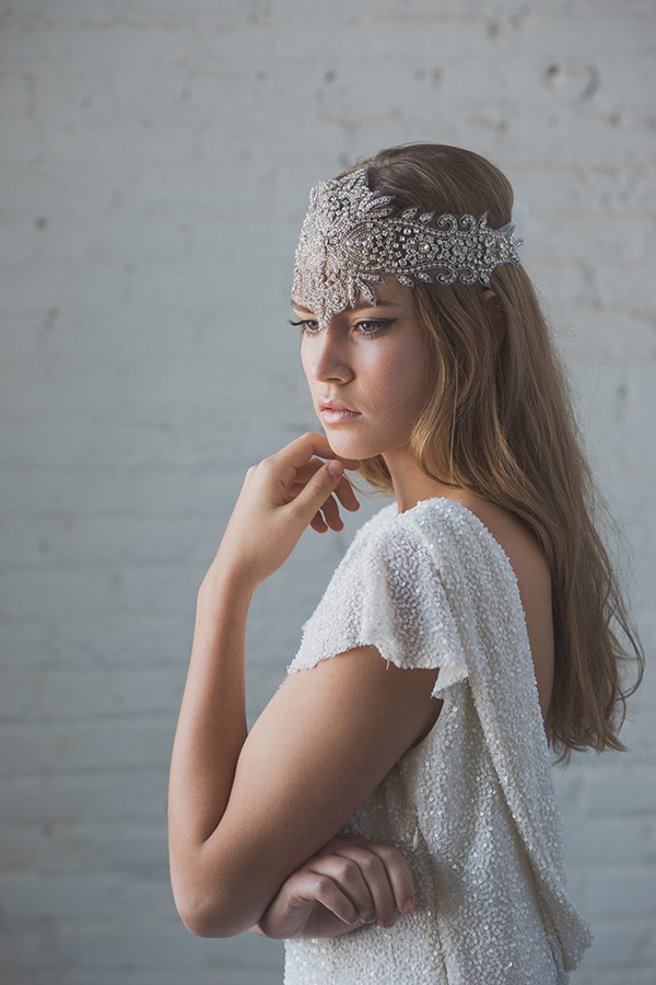 Gibson Bespoke jeweled headpiece for weddings
