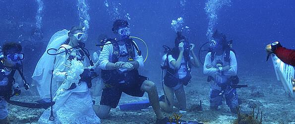 Underwater Weddings in St. Barths