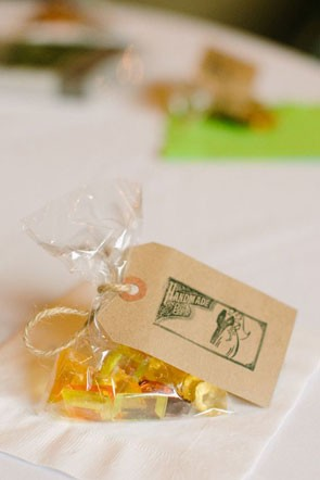 hard candy wedding favors wrapped in cellophane bag