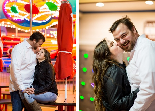 carnival engagement session in Galveston, Texas