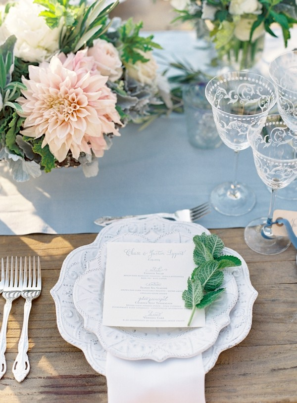 rustic and whimsical wedding reception table setting