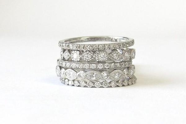 stackable wedding bands you ll love collecting wedding planning tips. Black Bedroom Furniture Sets. Home Design Ideas