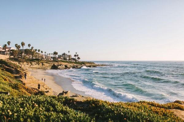 view of beach in La Jolla, CA