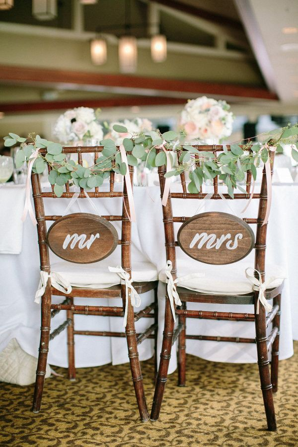 Simple Mr. and Mrs. chair signs