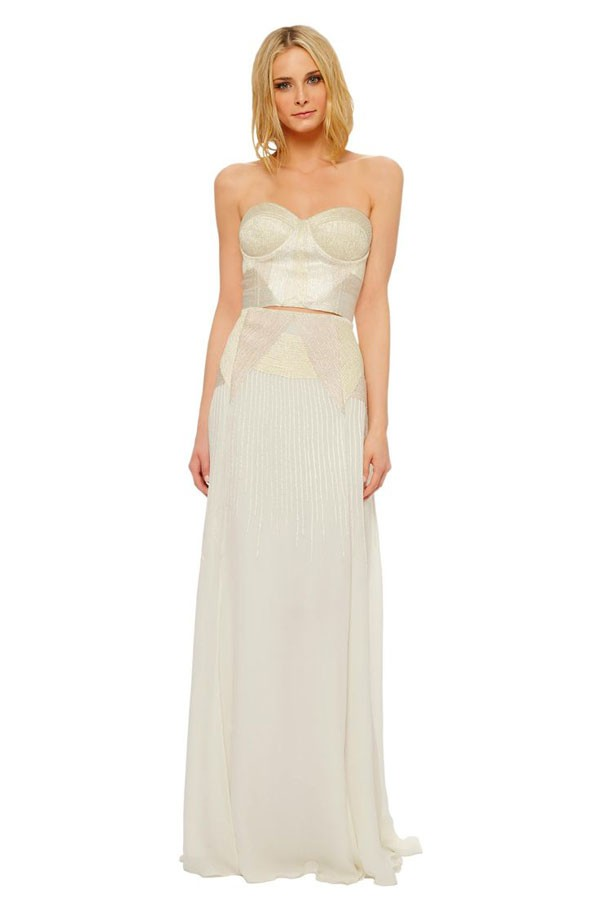 bustier drop top wedding dress