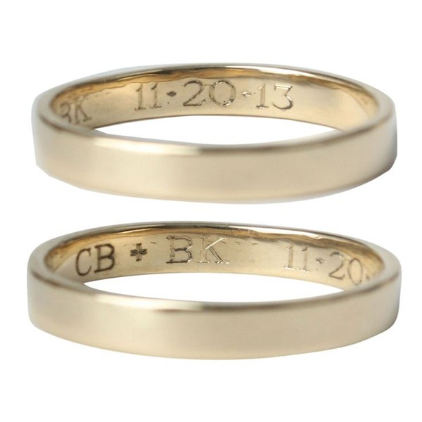 traditional engraved wedding bands