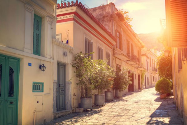 historical neighborhood in Athens called Plaka