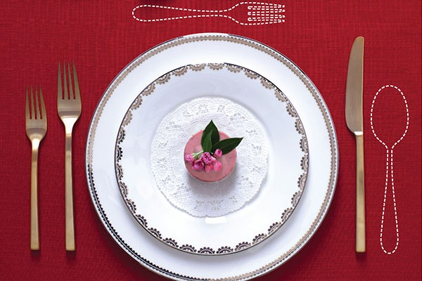 place setting with missing silverware