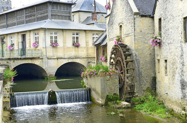 water mill in Bayeux, France